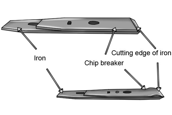 Woodworking hand plane chip breakers and irons
