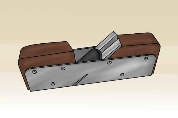 A steel-cased rebate or rabbet plane