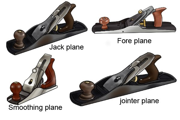 Jack, fore, jointer and smoothing hand planes