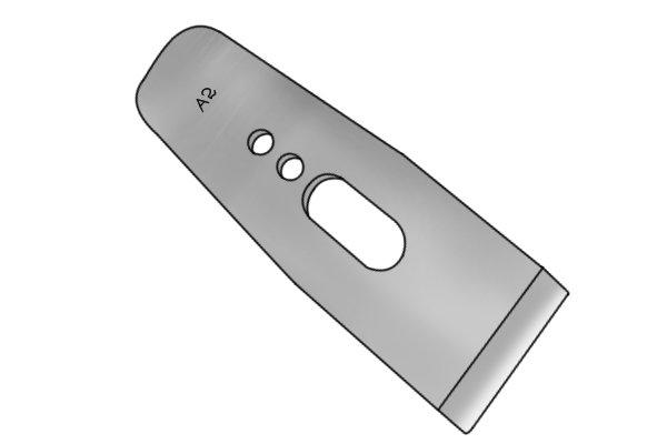 An A2 steel bench plane iron