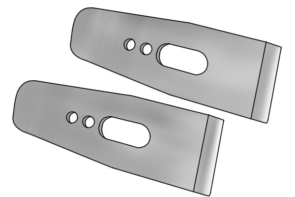 A2 tool steel plane irons