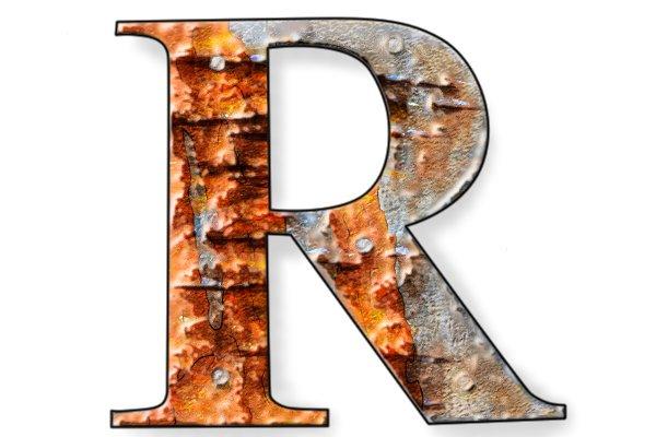 Rusty cast iron body of a block plane