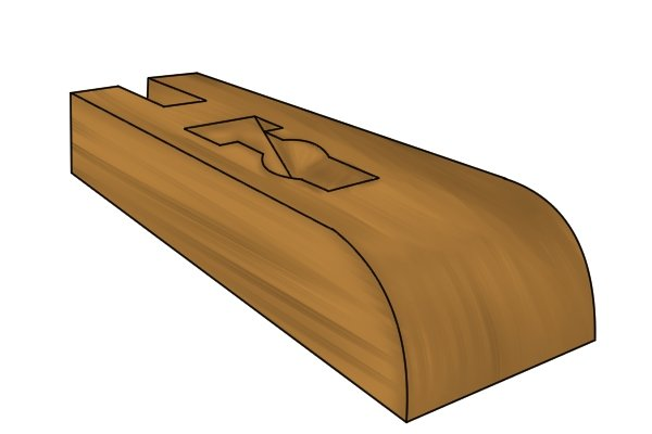 Stock of a wooden hand plane