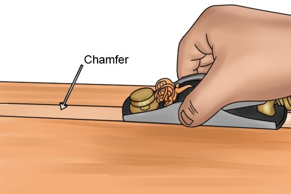 Using a block plane to make a chamfer