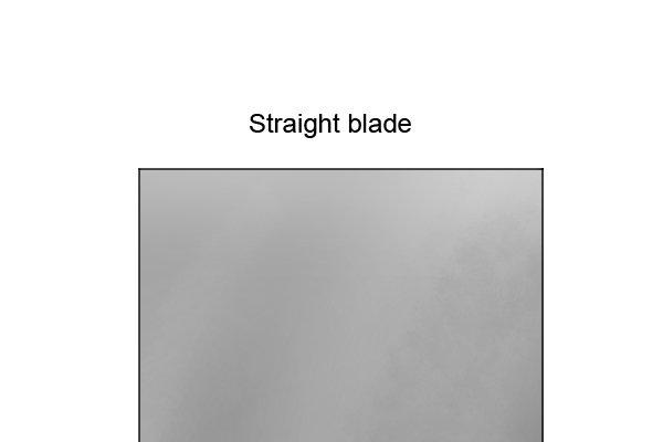 Straight hand plane iron