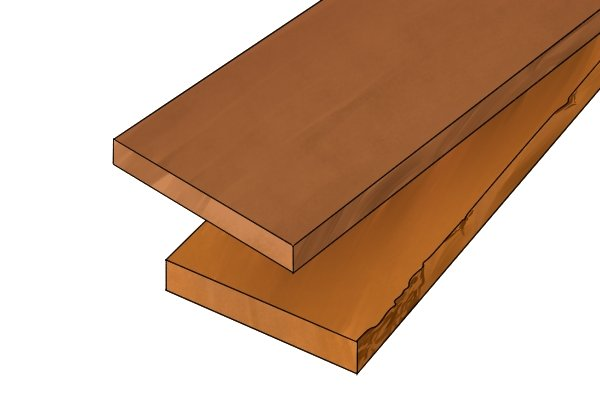 Wood planed both sides - PBS