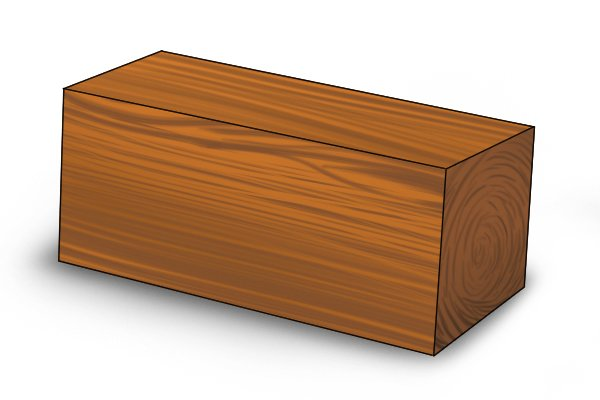 Squared piece of wood