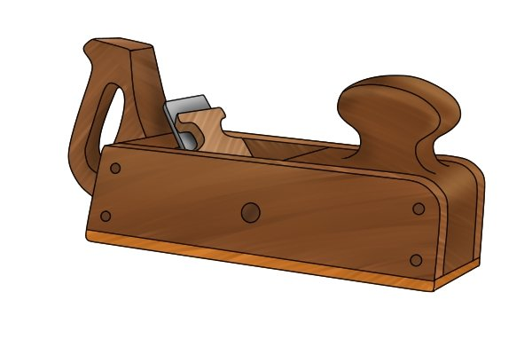 Scrub plane with closed handle