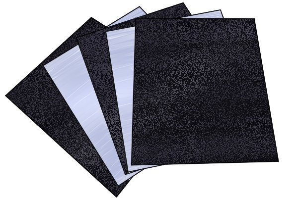 Different grades of abrasive sheets