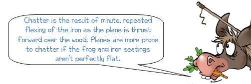 Wonkee Donkey on hand plane chatter