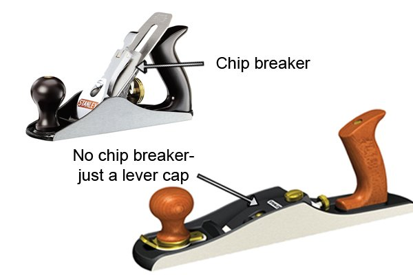 No chip breaker on low-angle bench plane
