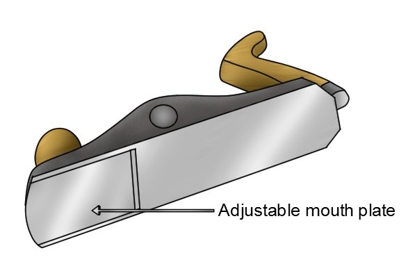 Sole of low-angle bench plane