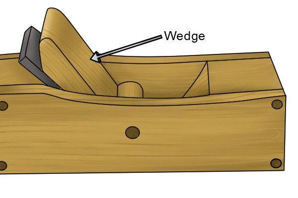Wedge of a wooden bench plane