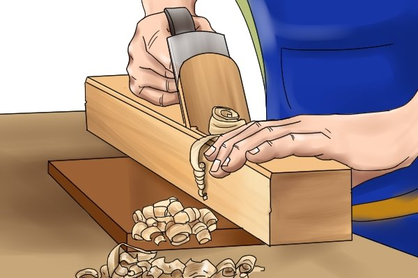Using a wooden jointer plane