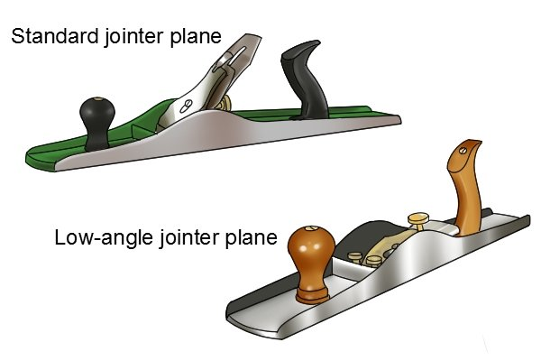 Standard and low-angle jointer planes