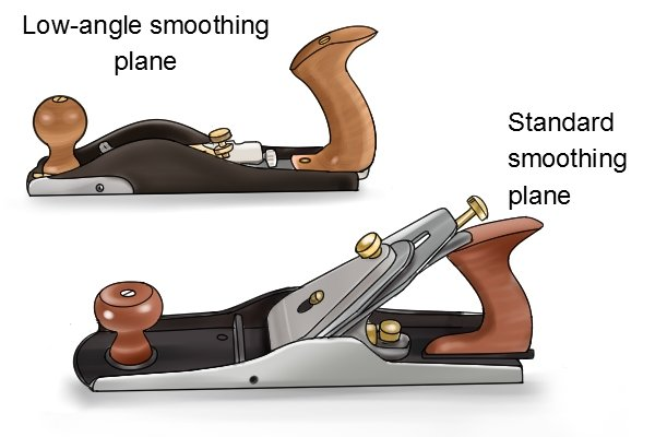 Low-angle and standard smoothing plane