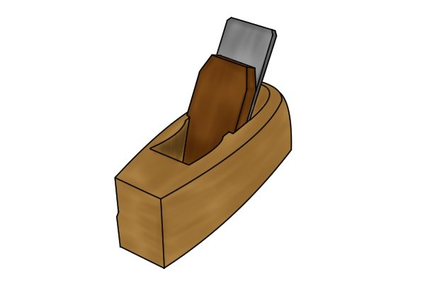 Coffin-shaped wooden bench plane