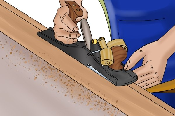 Levelling wood with a jointer plane