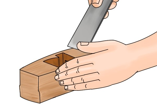 Replacing the iron in a wooden bench plane
