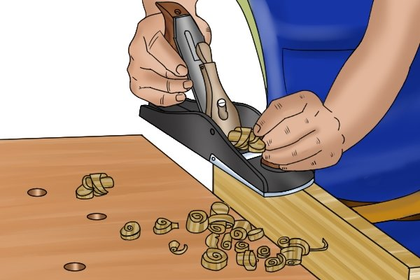 Using a jack plane; blacklash can cause the blade to stop cutting; woodworking planes