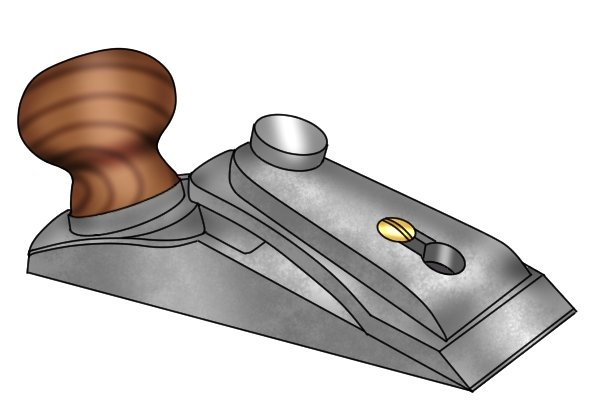 Chisel plane's design usually includes a handle