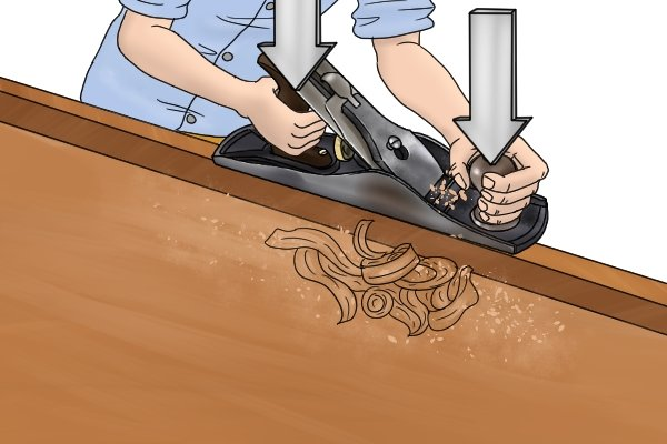 Planing wood with a bench plane - step-by-step guide