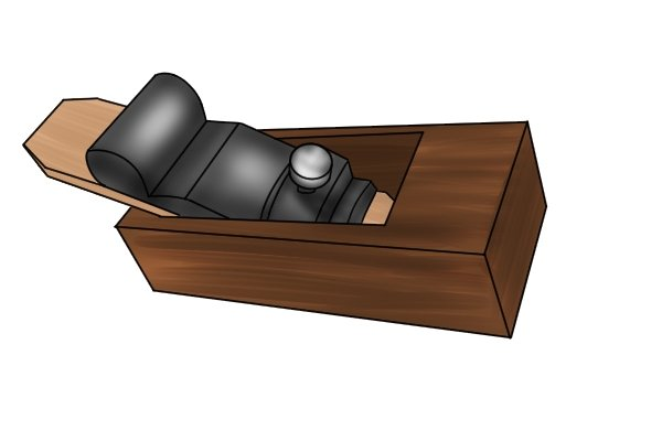 Traditional wooden block plane