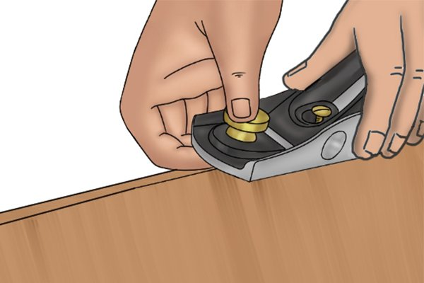 Lift and return block plane after forward stroke