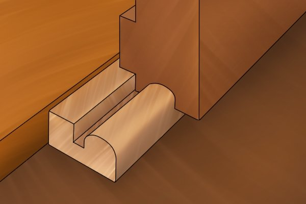 Moulding plane in use