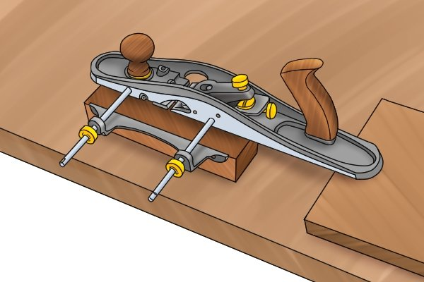 Cutting a groove with a grooving plane
