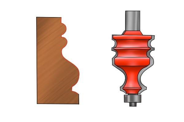 Spindle cutter for mouldings