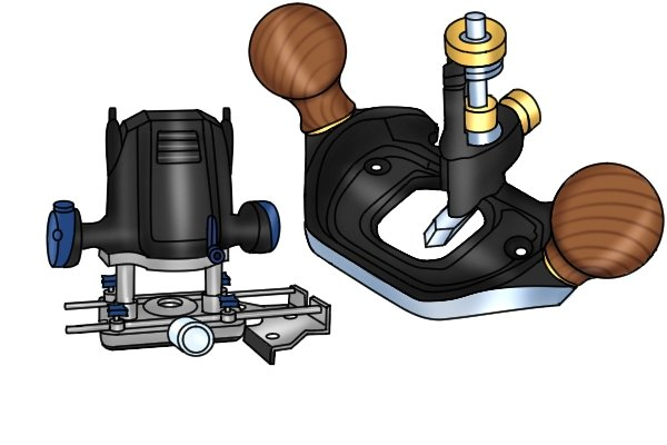 Router plane and power router - similar designs