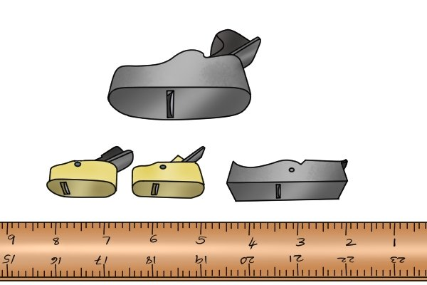 Various sizes of finger plane