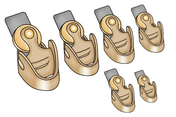 A collection of finger planes for use in making musical instruments