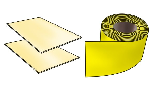 Two grades of abrasive paper for flattening sole of plane