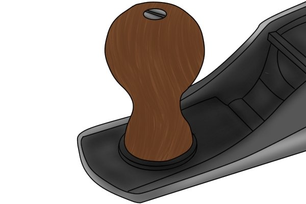 Wooden front knob for a bench plane
