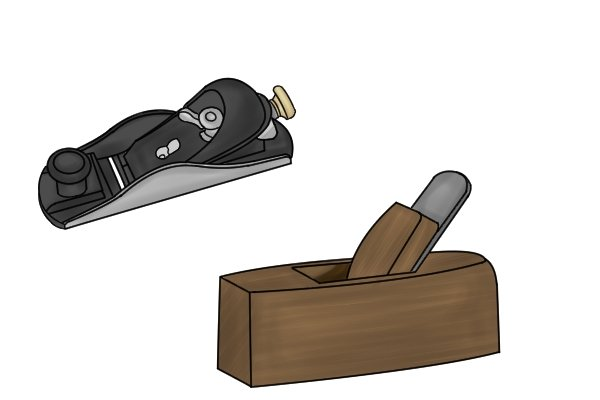 Metal and wooden block planes; woodworking hand planes