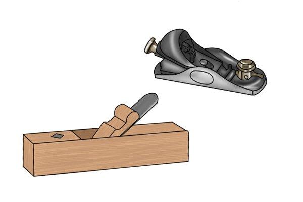 Metal land wooden block planes