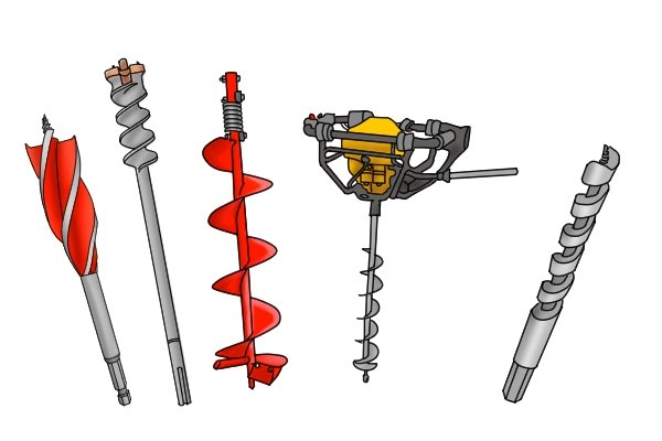 Different types of auger bits