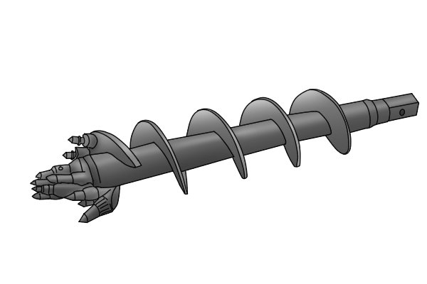 Example of a rock ripper auger bit