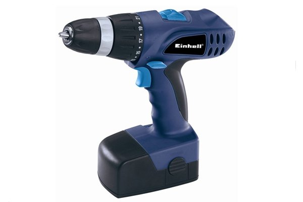 A hand-held drill driver, which is needed to drive a triple-fluted wood bit