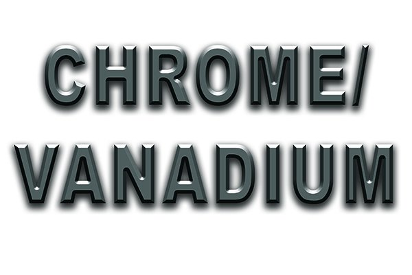 Image showing the chemical make-up of chrome vanadium steel, a material used in the manufacture of brad point bits