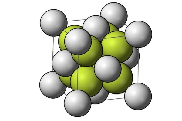 Image showing the molecular structure of steel being reinforced by chromium and vanadium particles