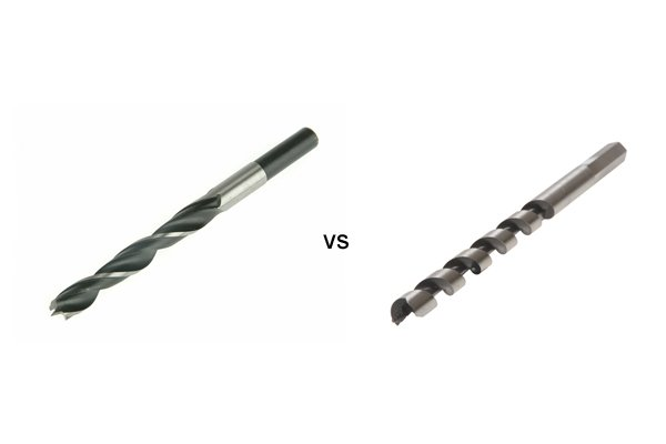 Image comparing a brad point bit and an auger bit