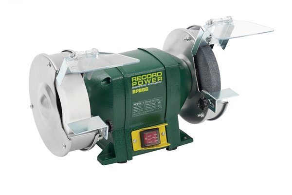 An example of a bench grinder