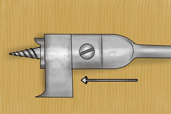 Close up of the outrigger cutter on an expansive bit