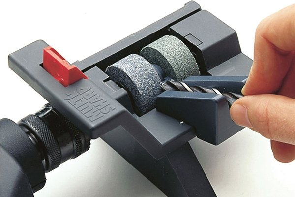 Image of a drill sharpening tool, which can be used to sharpen spade bits
