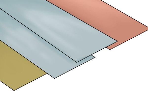 variety of sheet metals