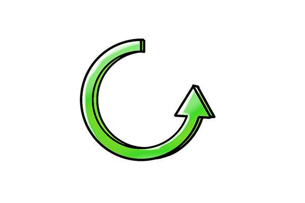 anti-clockwise arrow