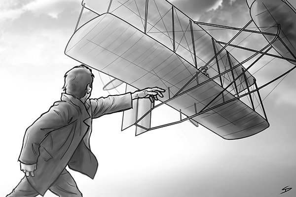The Wright brothers were the first to design a powered plane which could take a sustained, controlled flight